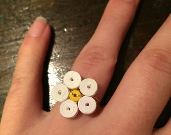 Quilled Flower Ring