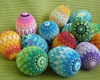 Paper Quilled Decorative Eggs