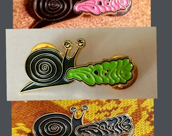 SNAILS Hat Pin Set. Three Pack of various snails pins shown - hat pins - snails pin