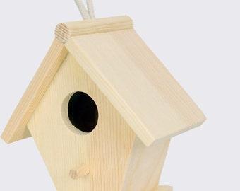 Home/Cottage/bird nest, decoupage, wood 10x7x11h cm