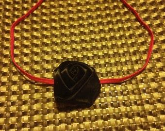 3-12 Months Black Rosette Thin Elastic Headband
