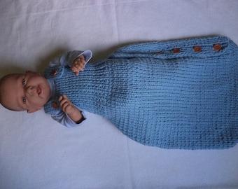 Baby sleeping bag 60 cm knitted sleeping bag Merino Wool wool