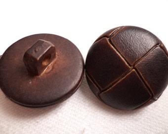 11 buttons Brown dark brown 21mm (1180) button