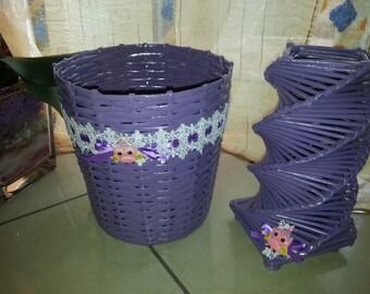 Trash + nursery lamp