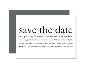 Save The Date | Typography Save The Date | Minimalist