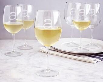 Personalized 12 oz. White Wine Glasses (Set of 6)