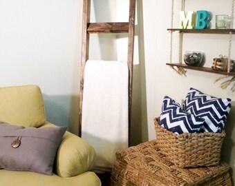 "6 ft x 16"" Bathroom Towel Ladder, Farmhouse Towel Ladder, Towel Rack, Primitive"
