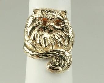 Kitty Cat Ring 14K