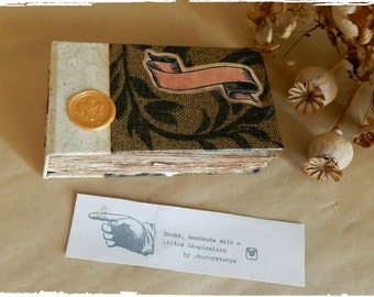 Tiny Little Handmade Scroll Book, Notebook, Scrapbook, Photo Album, SketchBook, Handbound