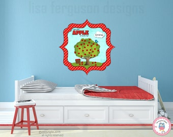 Apple tree wall decals etsy for Apple tree mural