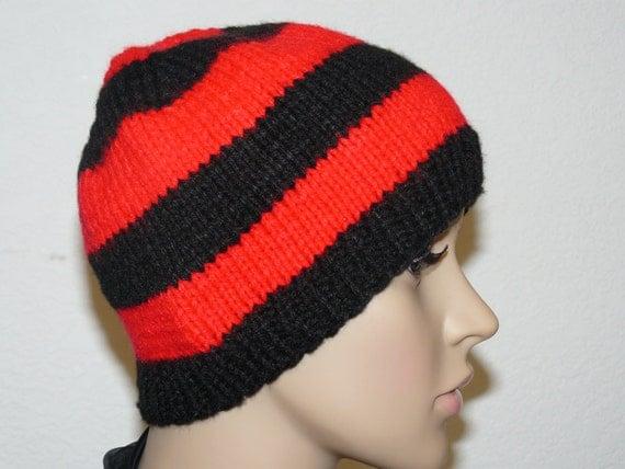 Striped Beanie Knitting Pattern : Knitting PATTERN, Knit Striped Beanie Pattern, Womens Knit Hats Patterns, Kni...