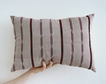 12x20 inch Beige Handwoven Guatemalan Fabric Pillow Cover