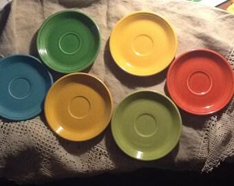 Vintage Fiestaware saucers
