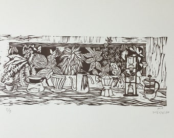 coffee block print