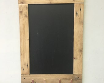 Chalkboard with clothes pins