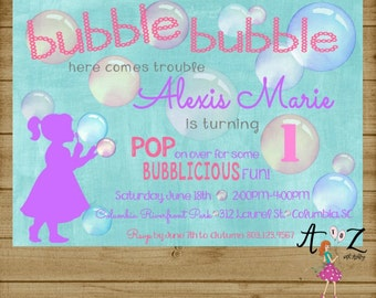 Bubble Party, Bubble Party Invitation, Bubble Party Invite, Bubble Birthday, Bubble Invitation, Bubble Party, Bubble Birthday, Printable