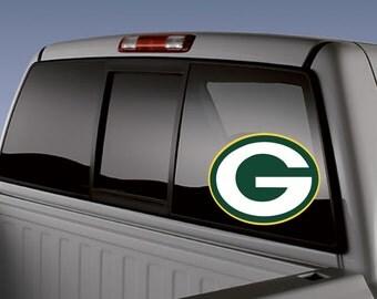Packers Vinyl Decal-Football-Green Bay-Car Decal-Mug-Cooler