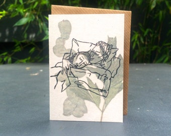 Read to me - 100% recycled A7 grey greeting card