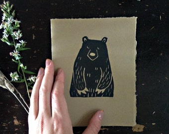 I Think You're Beary Nice card with envelope
