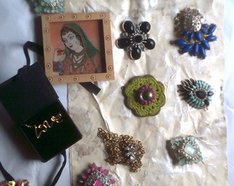 SALE!!!  Grandma's Junk Drawer /  treasures / bits and bobs / upcycle / jewelry / destash / collage/ mixed media / supplies