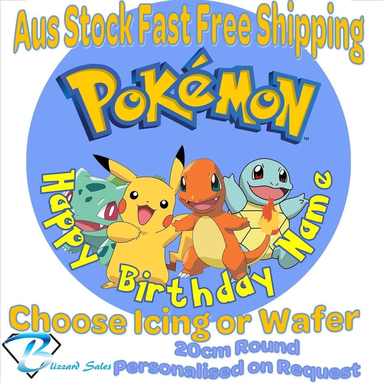 Pokemon Edible Image Cake Topper Australia