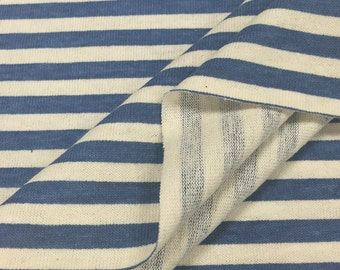 100% Cotton Striped Jersey Knit Fabric