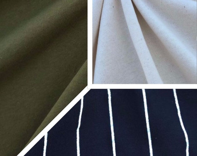 Cotton Jersey Knit Fabric (Wholesale Price Available By The Bolt) Made in USA Premium Quality - 2085 - 1 Yard