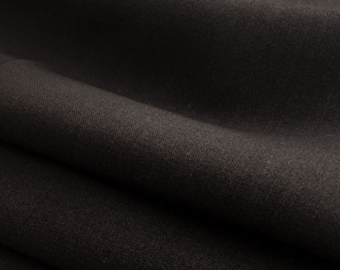 Stretchy Cotton Twill Fabric By the Yard (Wholesale Price Available By the Bolt) - 10056 Java - 1 Yard