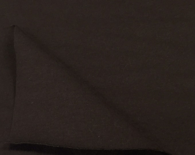 Cotton Jersey Knit Fabric With Spandex (Wholesale Price Available By The Bolt) USA Made Premium Quality - 3080C Brown - 1 Yard