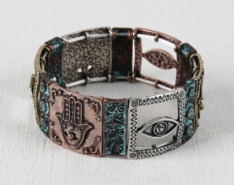 Hamsa Tiles Bracelet - Multi