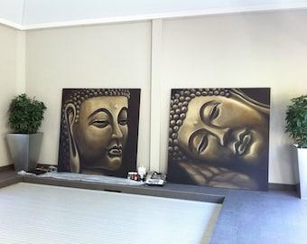 Buddha Canvas, Hand Painted Buddha, Buddha Art, Buddha Artwork, Buddha Mural, Buddha painting, buddha, Spiritual artwork, Buddha art