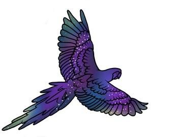 Parrot Temporary Tattoo Set