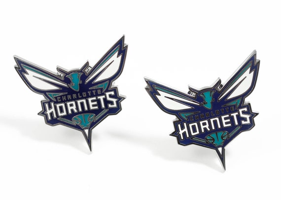 Charlotte Hornets Cuff Links -- FREE SHIPPING with USPS First Class Domestic Mail