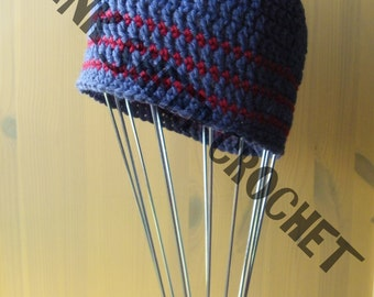 Toddlers Striped Skater Beanie *** READY TO POST ***