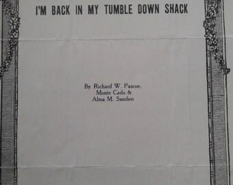 Vintage Piano music score, published 1932
