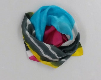 handpainted silk scarf ' four colours'
