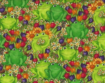 Happy Frogs in Tulips, Timeless treasures