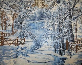 Winter scene in the woods,Timeless Treasures