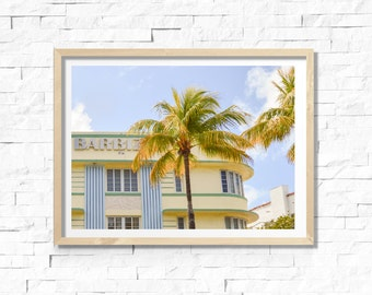 printable art, instant download, colour photography, home decor, wall art, 8x10 print, art deco, retro, colourful, south beach, miami, hotel