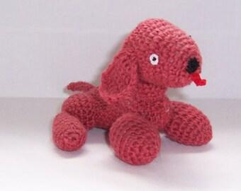 Cute Dog / Puppy Handmade Crocheted toy, crocheted dog ,Hand Crocheted toy, stuffed toy, tiny dog toy