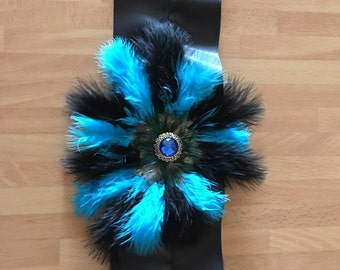 Blue and Black Sash