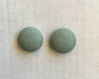 15mm Mint Green Fabric Studs