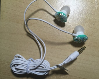 Hand Blinged Earbuds