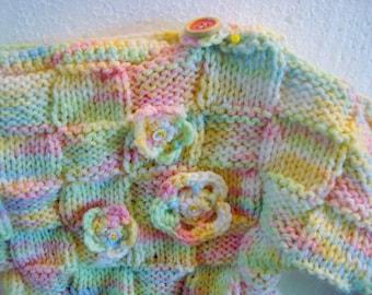 Sweater Rainbow Girl Gr. 50-56 flower toddler