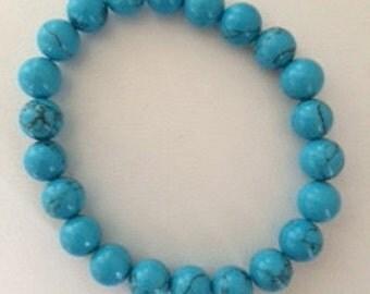 blue turquoise beaded bracelet