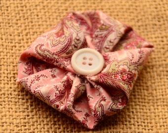 Single Fabric Flower Hair Clip