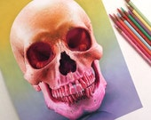 Mixed Media Skull Drawing...