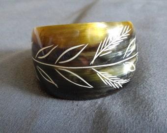 Zebu horn bracelet