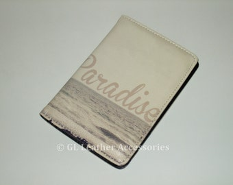 High Quality Faux Leather Passport Holder Case (Paradise)
