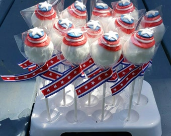 Captain America Cake Pops (Order of 13)